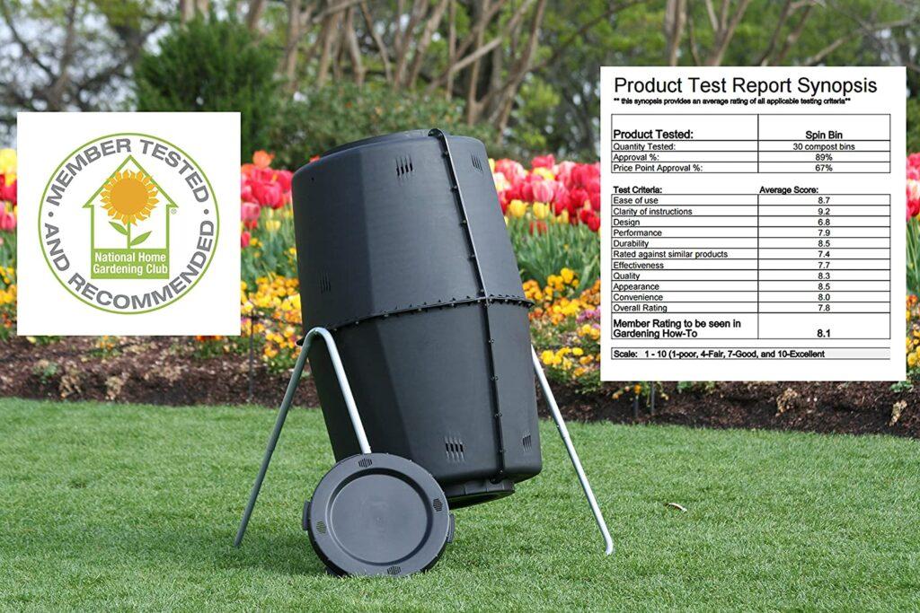 new garden compost tumbler, 60 gallon composter