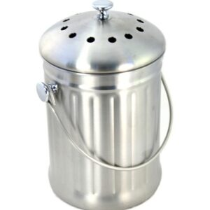 Brushed Stainless Steel .6 Gallon Compost Pail