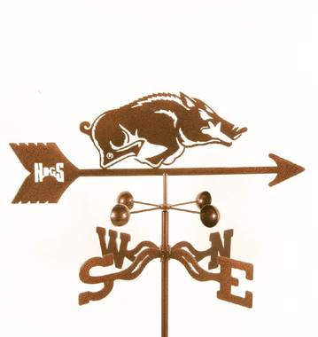 Arkansas Razorbacks Logo Weathervane Clean Air Gardening