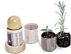 Newspaper Pot Maker for Seed Starting