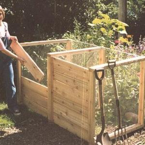 Double Cedar Composting Bin