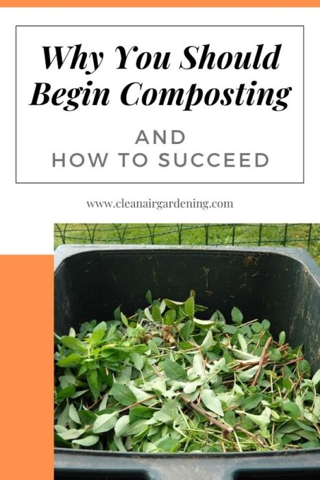 compost materials with text overlay why you should begin composting and how to succeed