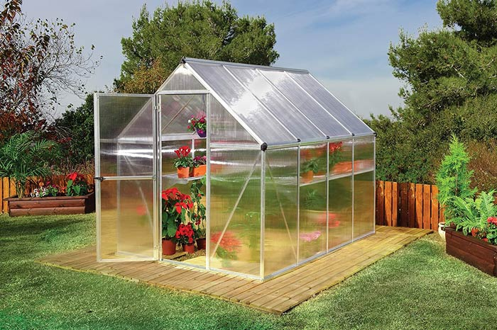 Frame greenhouse plant, home plant, frame material aluminum plant