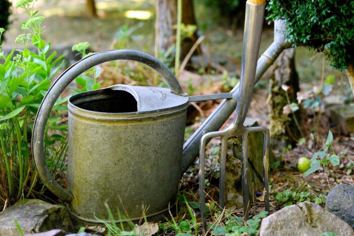 watering can outside
